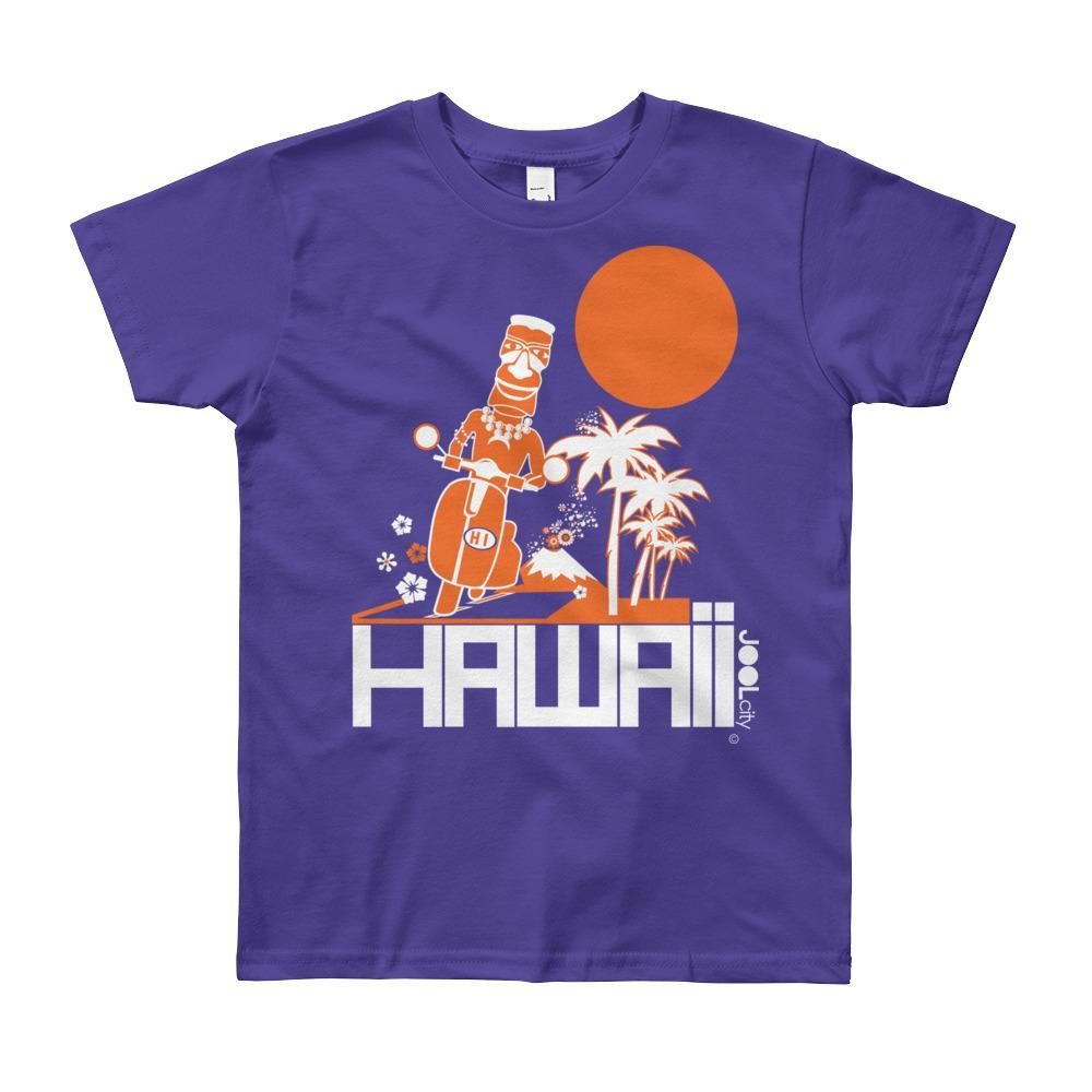 Hawaii Longboard Love Short Sleeve Youth T-shirt T-Shirt Purple / 12yrs designed by JOOLcity