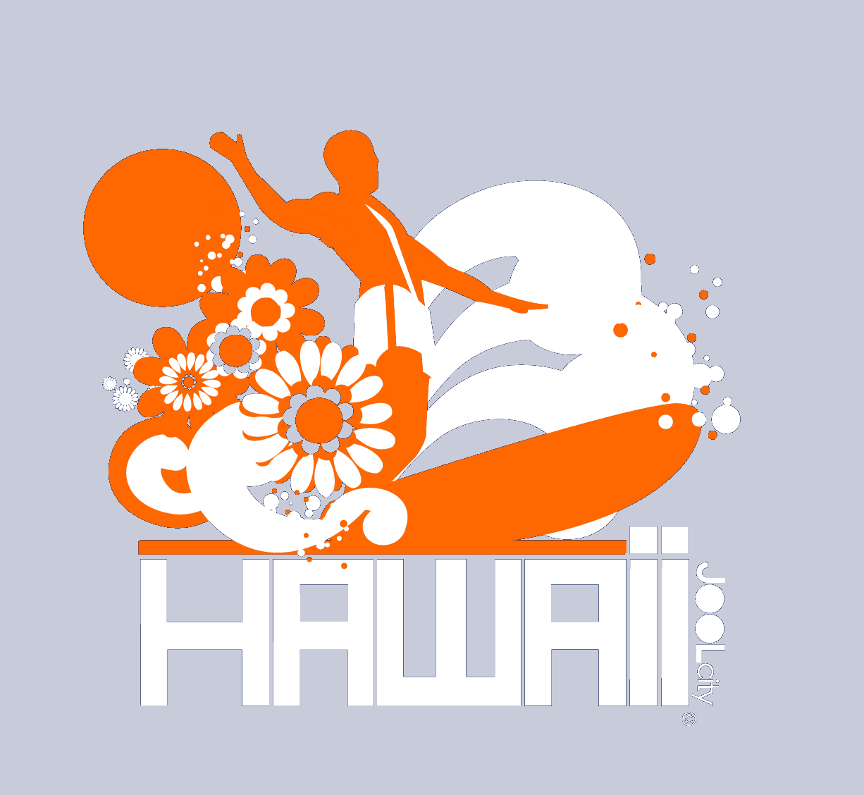 Hawaii  Longboard Love  Women's   Short Sleeve T-Shirt T-Shirt  designed by JOOLcity