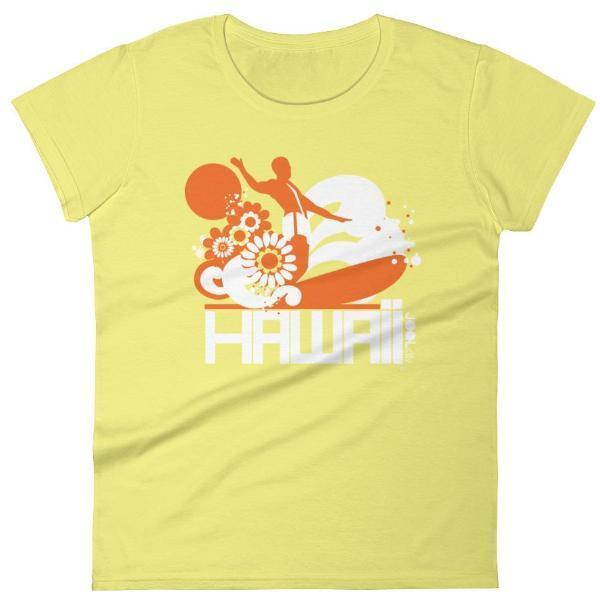 Hawaii  Longboard Love  Women's   Short Sleeve T-Shirt T-Shirt Spring Yellow / 2XL designed by JOOLcity