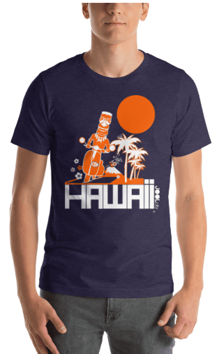 Hawaii  Moped Madness  Short-Sleeve Men's  T-Shirt T-Shirt  designed by JOOLcity