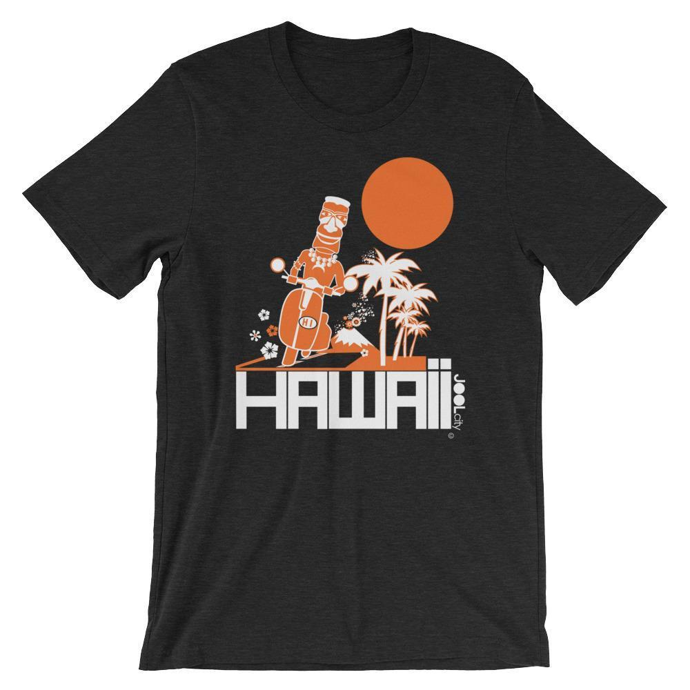 Hawaii  Moped Madness  Short-Sleeve Men's  T-Shirt T-Shirt Black Heather / 2XL designed by JOOLcity