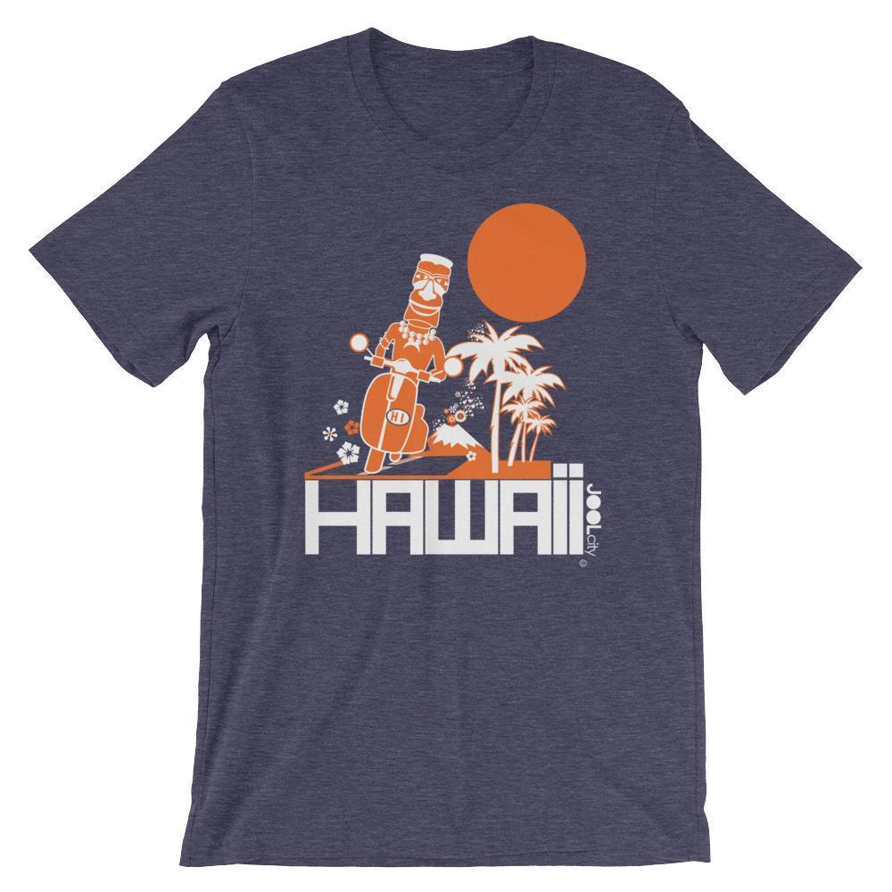 Hawaii  Moped Madness  Short-Sleeve Men's  T-Shirt T-Shirt Heather Midnight Navy / 2XL designed by JOOLcity