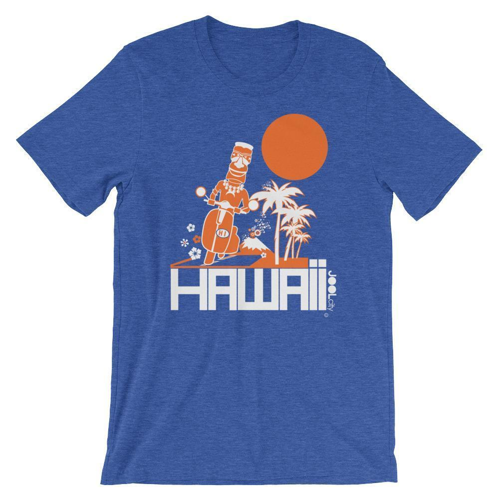 Hawaii  Moped Madness  Short-Sleeve Men's  T-Shirt T-Shirt Heather True Royal / 2XL designed by JOOLcity