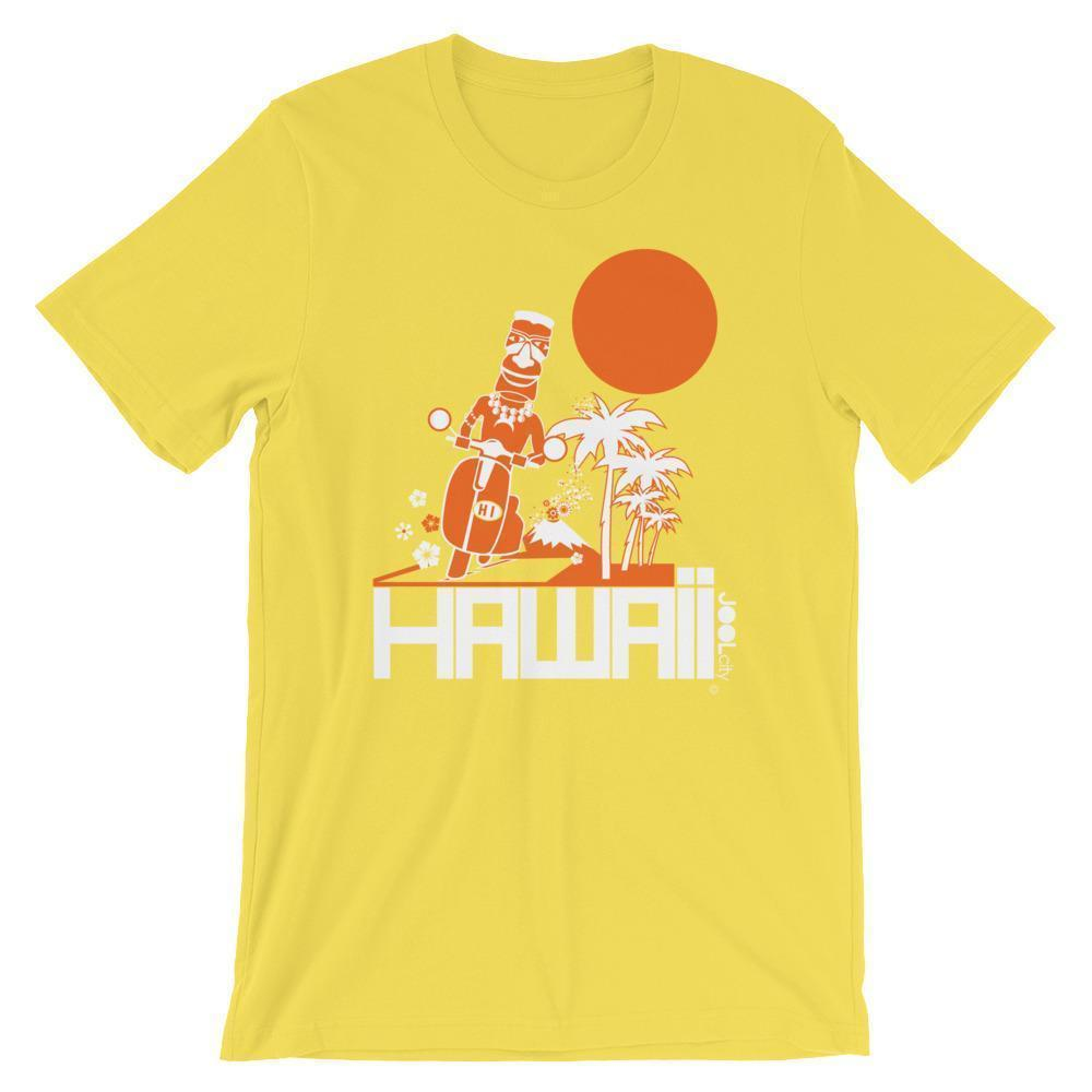 Hawaii  Moped Madness  Short-Sleeve Men's  T-Shirt T-Shirt Yellow / 2XL designed by JOOLcity