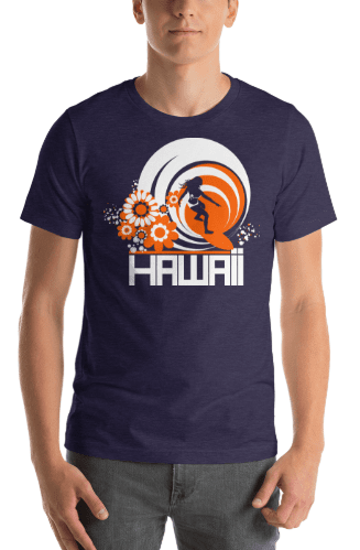 Hawaii  Ripcurl Girl  Short-Sleeve Men's T-Shirt T-Shirt  designed by JOOLcity
