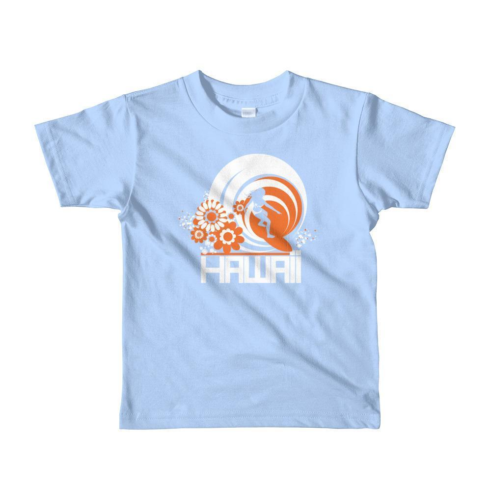 Hawaii  Ripcurl Girl  Short Sleeve Toddler T-shirt T-Shirt Baby Blue / 6yrs designed by JOOLcity