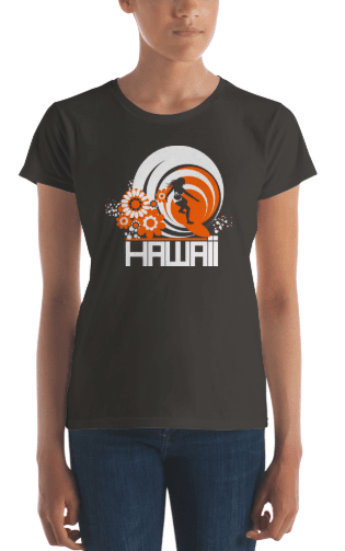 Hawaii  Ripcurl Girl  Women's   Short Sleeve T-Shirt T-Shirt  designed by JOOLcity