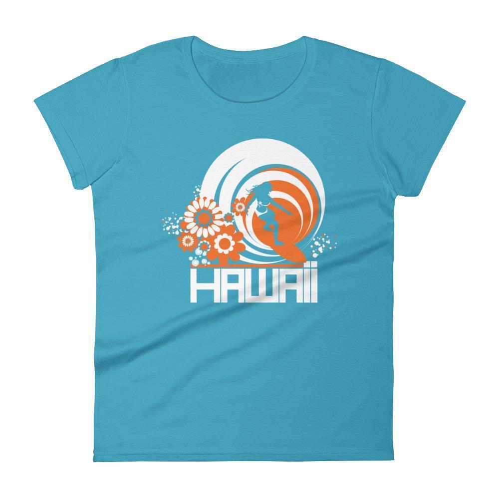 Hawaii  Ripcurl Girl  Women's   Short Sleeve T-Shirt T-Shirt Caribbean Blue / 2XL designed by JOOLcity