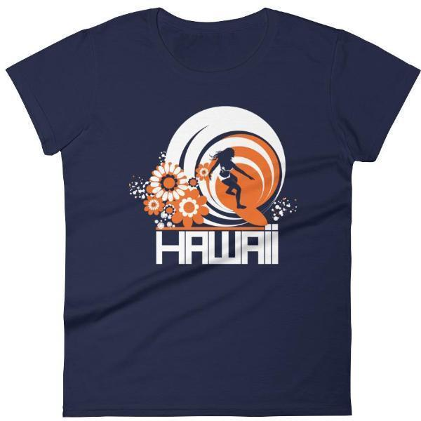 Hawaii  Ripcurl Girl  Women's   Short Sleeve T-Shirt T-Shirt Navy / 2XL designed by JOOLcity
