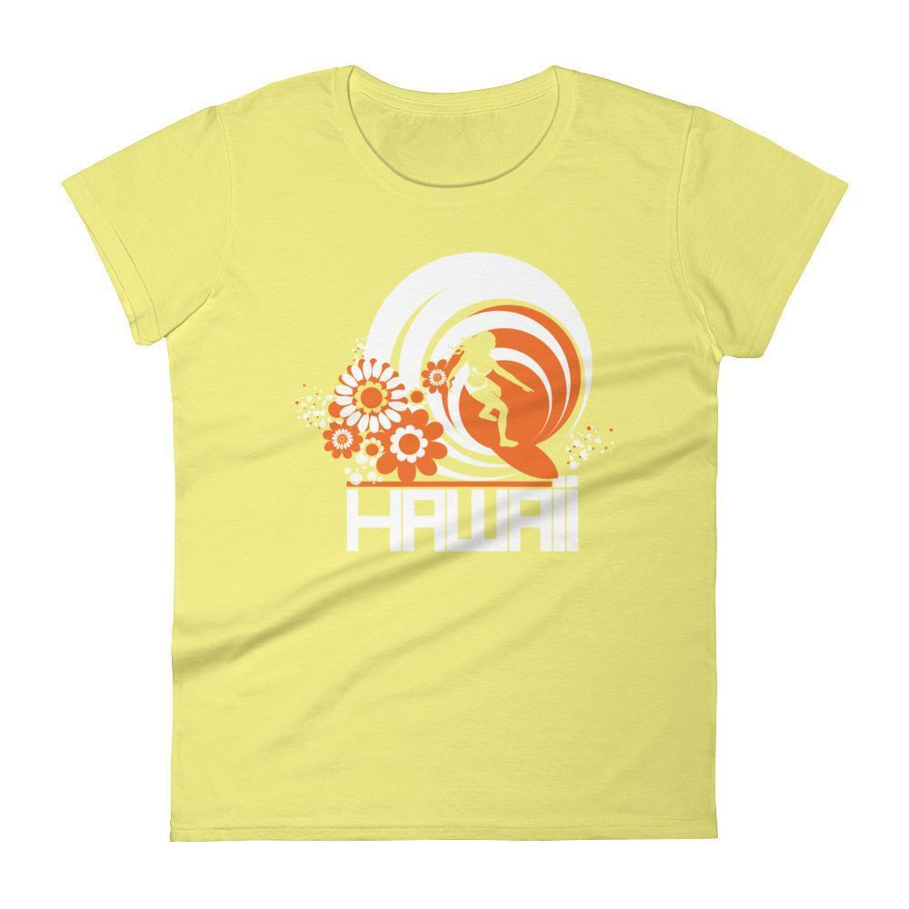 Hawaii  Ripcurl Girl  Women's   Short Sleeve T-Shirt T-Shirt Spring Yellow / 2XL designed by JOOLcity