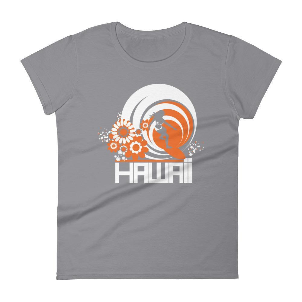 Hawaii  Ripcurl Girl  Women's   Short Sleeve T-Shirt T-Shirt Storm Grey / 2XL designed by JOOLcity