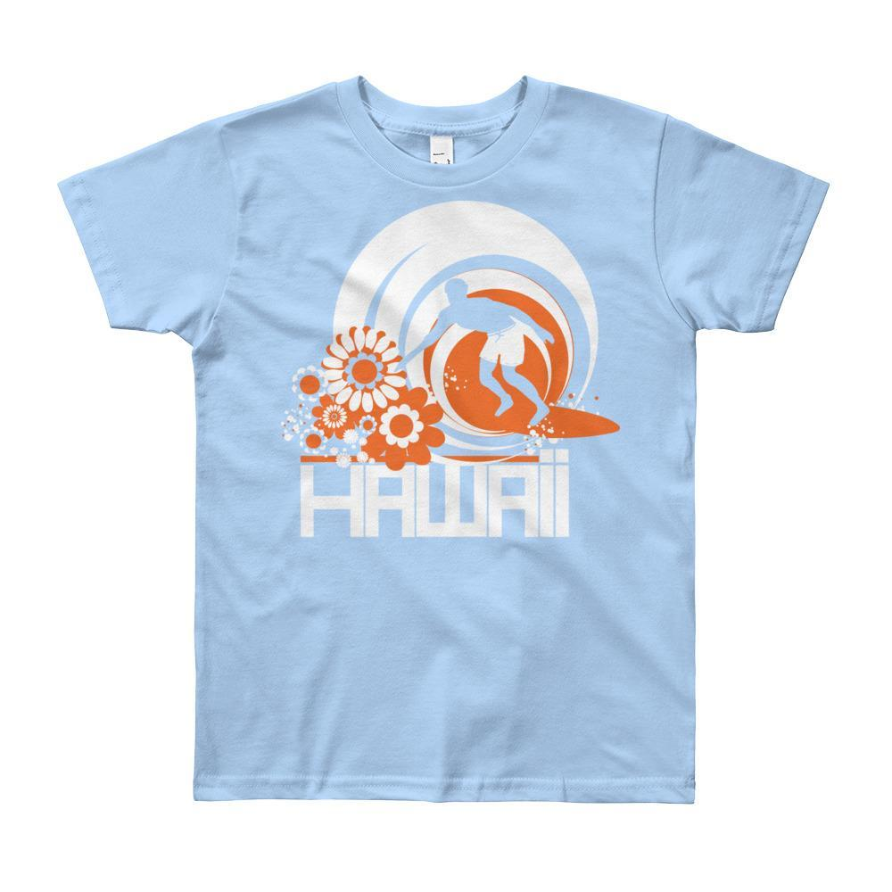 Hawaii Ripcurl Kid Short Sleeve Youth T-shirt T-Shirt Baby Blue / 12yrs designed by JOOLcity