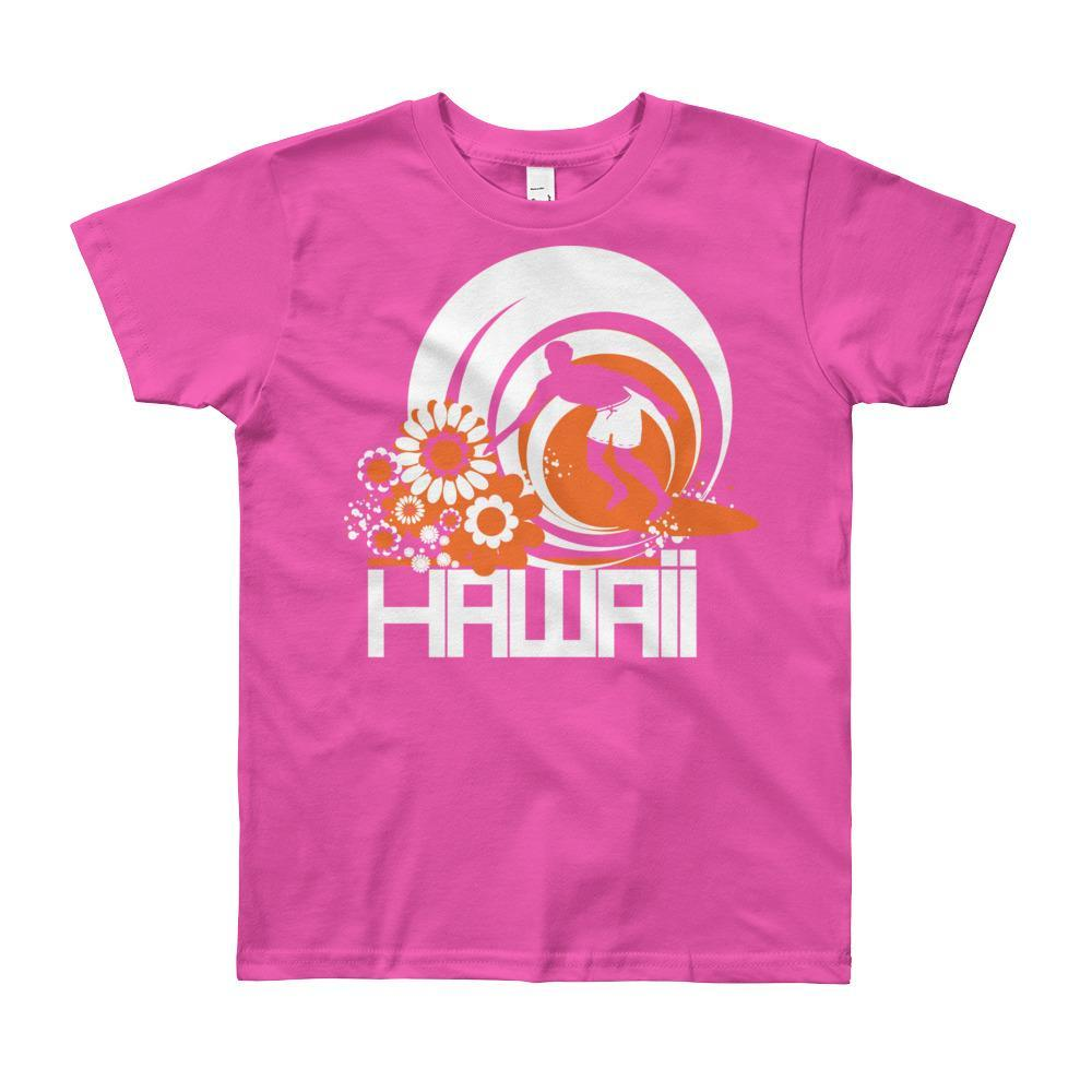 Hawaii Ripcurl Kid Short Sleeve Youth T-shirt T-Shirt Fuchsia / 12yrs designed by JOOLcity