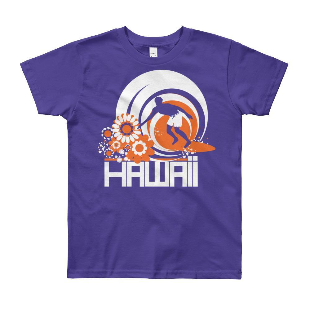 Hawaii Ripcurl Kid Short Sleeve Youth T-shirt T-Shirt Purple / 12yrs designed by JOOLcity