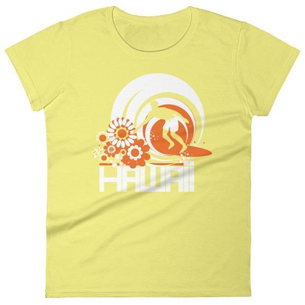 Hawaii  Ripcurl Kid  Women's   Short Sleeve T-Shirt T-Shirt Spring Yellow / 2XL designed by JOOLcity
