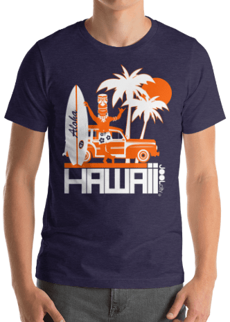 Hawaii  Surfin Woody  Short-Sleeve Men' s T-Shirt T-Shirt  designed by JOOLcity