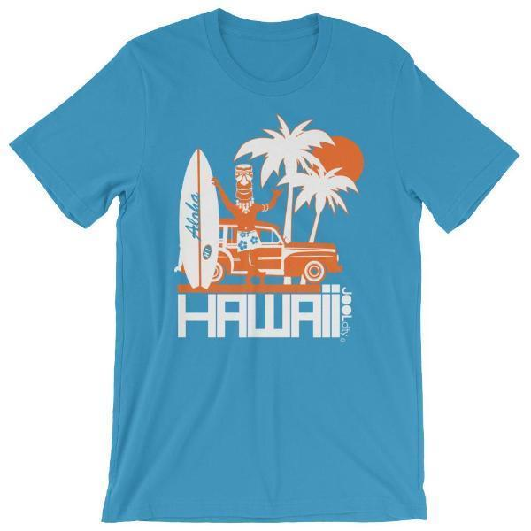 Hawaii  Surfin Woody  Short-Sleeve Men' s T-Shirt T-Shirt Ocean Blue / 4XL designed by JOOLcity