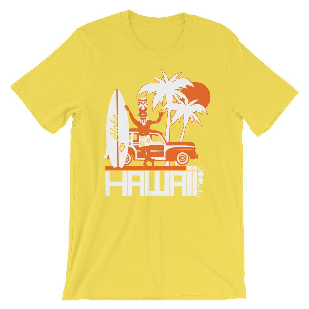 Hawaii  Surfin Woody  Short-Sleeve Men' s T-Shirt T-Shirt Yellow / 4XL designed by JOOLcity