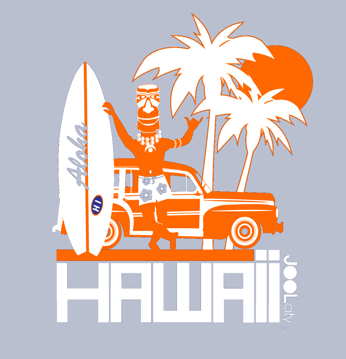 Hawaii  Surfin Woody  Women's   Short Sleeve T-Shirt T-Shirt  designed by JOOLcity