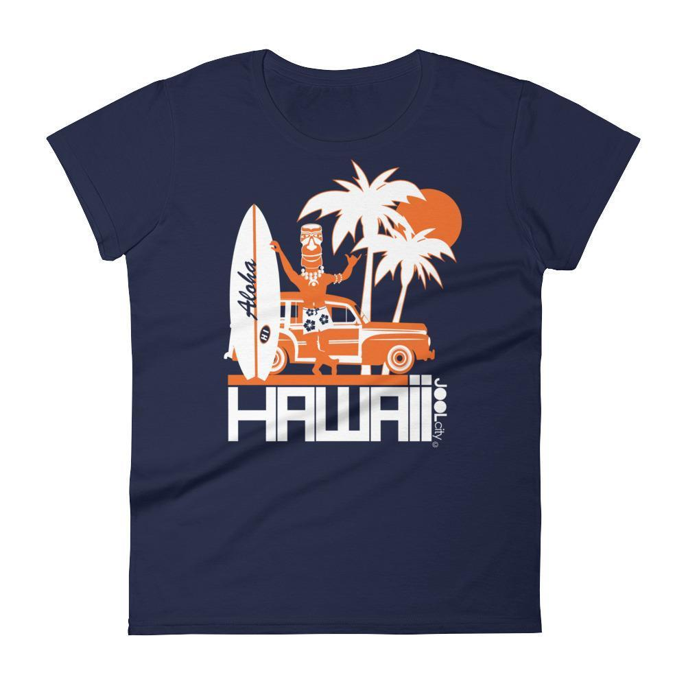 Hawaii  Surfin Woody  Women's   Short Sleeve T-Shirt T-Shirt Navy / 2XL designed by JOOLcity