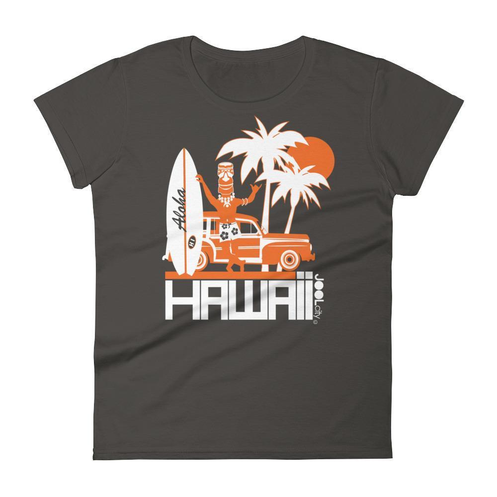 Hawaii  Surfin Woody  Women's   Short Sleeve T-Shirt T-Shirt Smoke / 2XL designed by JOOLcity