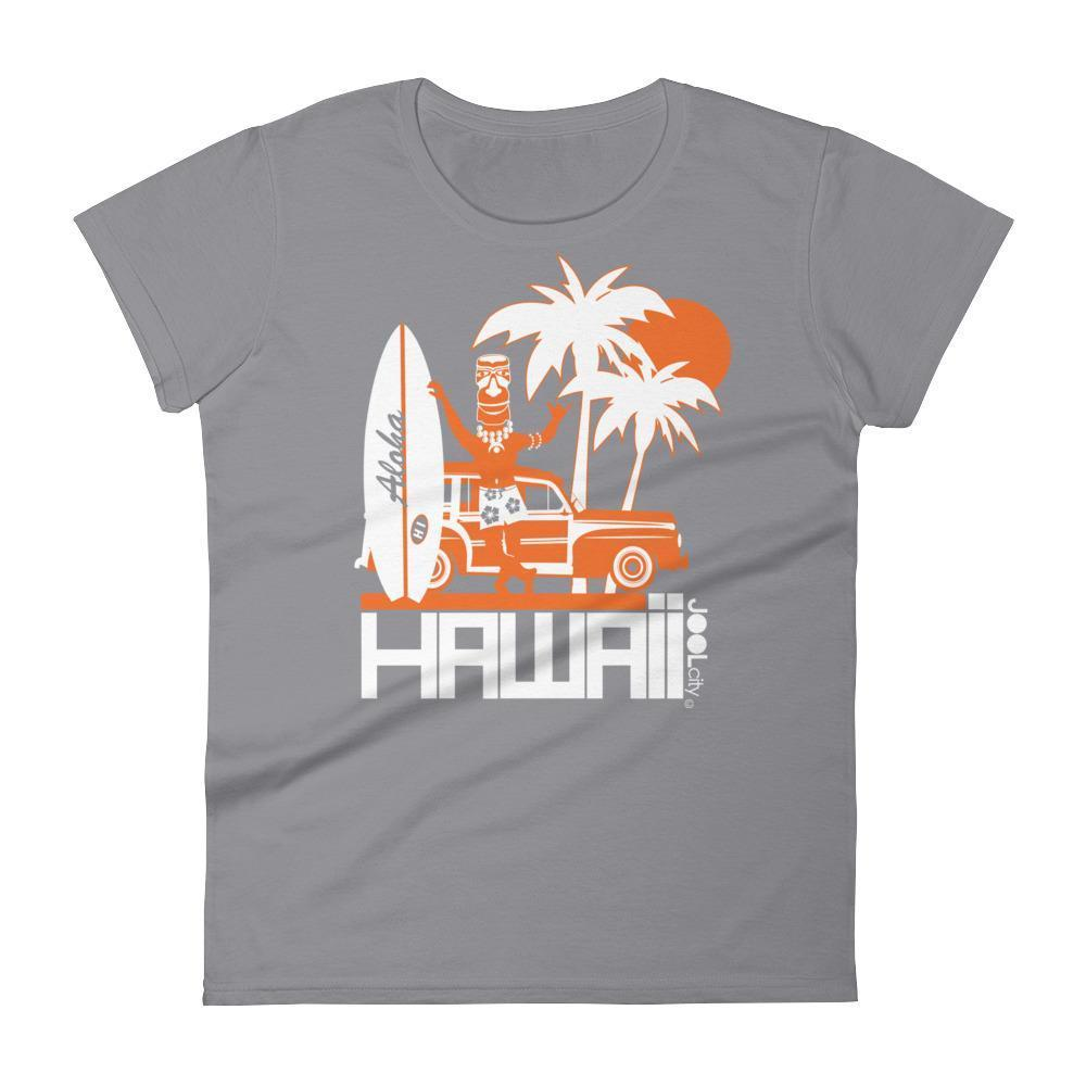 Hawaii  Surfin Woody  Women's   Short Sleeve T-Shirt T-Shirt Storm Grey / 2XL designed by JOOLcity