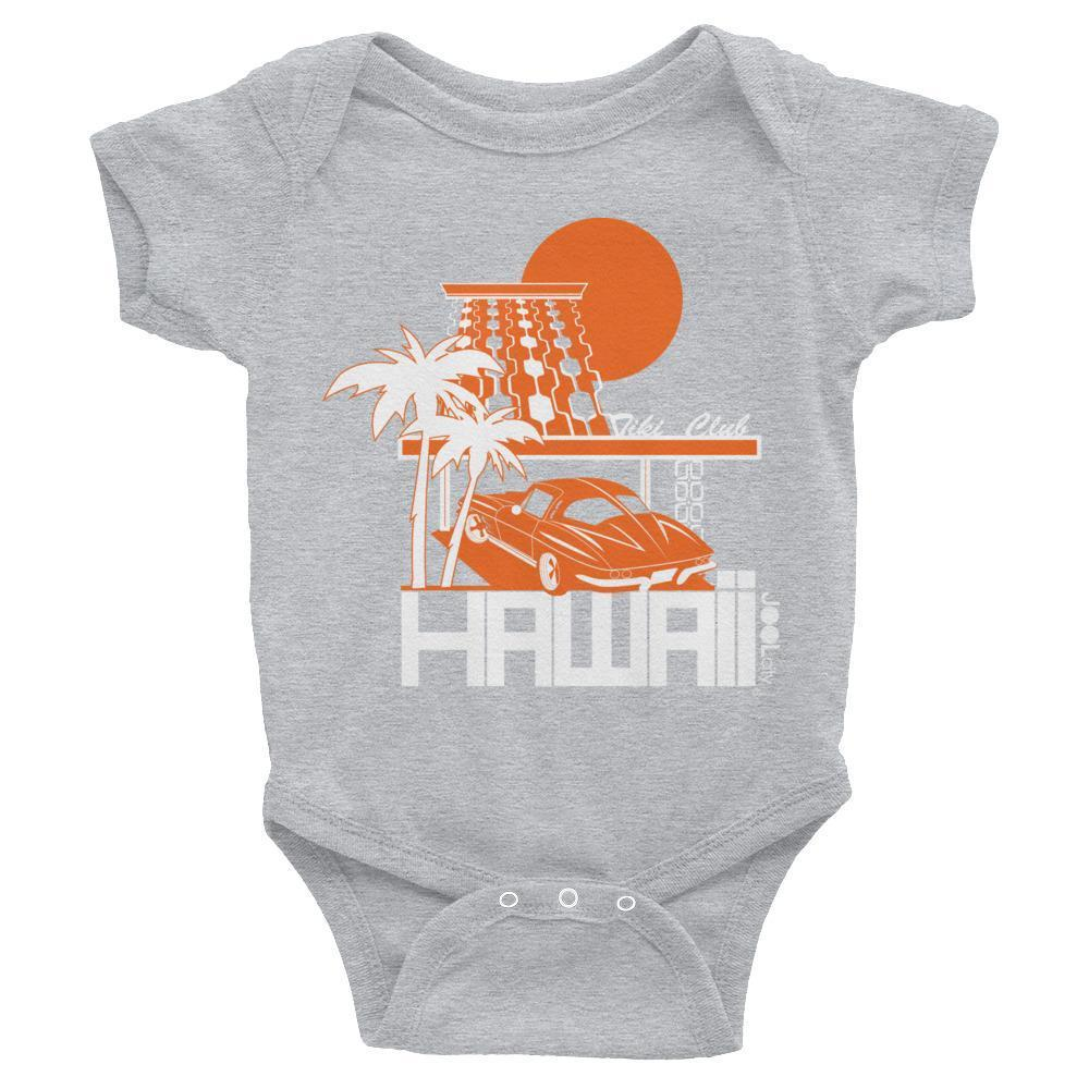 Hawaii  Tiki Club Baby Onesie