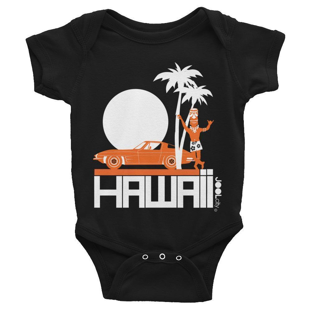 Hawaii  Tiki Guy Ride Baby Onesie