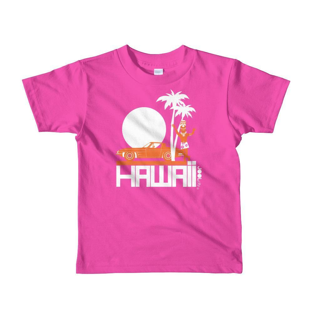 Hawaii  Tiki Guy Ride  Short Sleeve Toddler T-shirt T-Shirt Fuchsia / 6yrs designed by JOOLcity