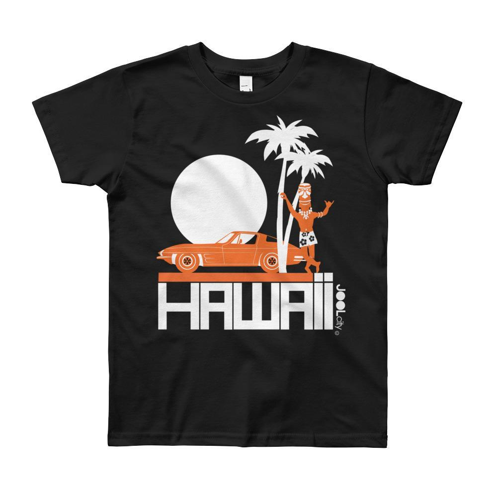 Hawaii Tiki Guy Ride Short Sleeve Youth T-shirt T-Shirt Black / 10yrs designed by JOOLcity
