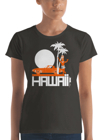 Hawaii  Tiki Guy Ride  Women's   Short Sleeve T-Shirt T-Shirt  designed by JOOLcity