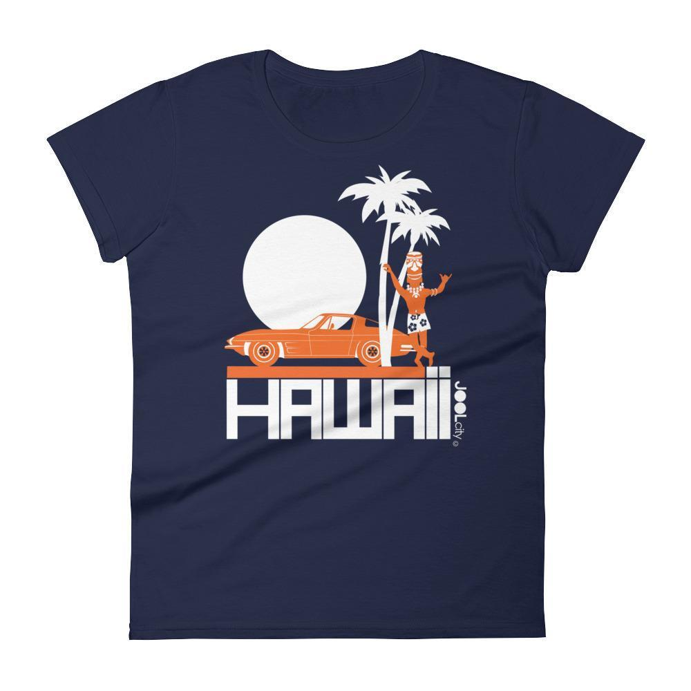Hawaii  Tiki Guy Ride  Women's   Short Sleeve T-Shirt T-Shirt Navy / 2XL designed by JOOLcity
