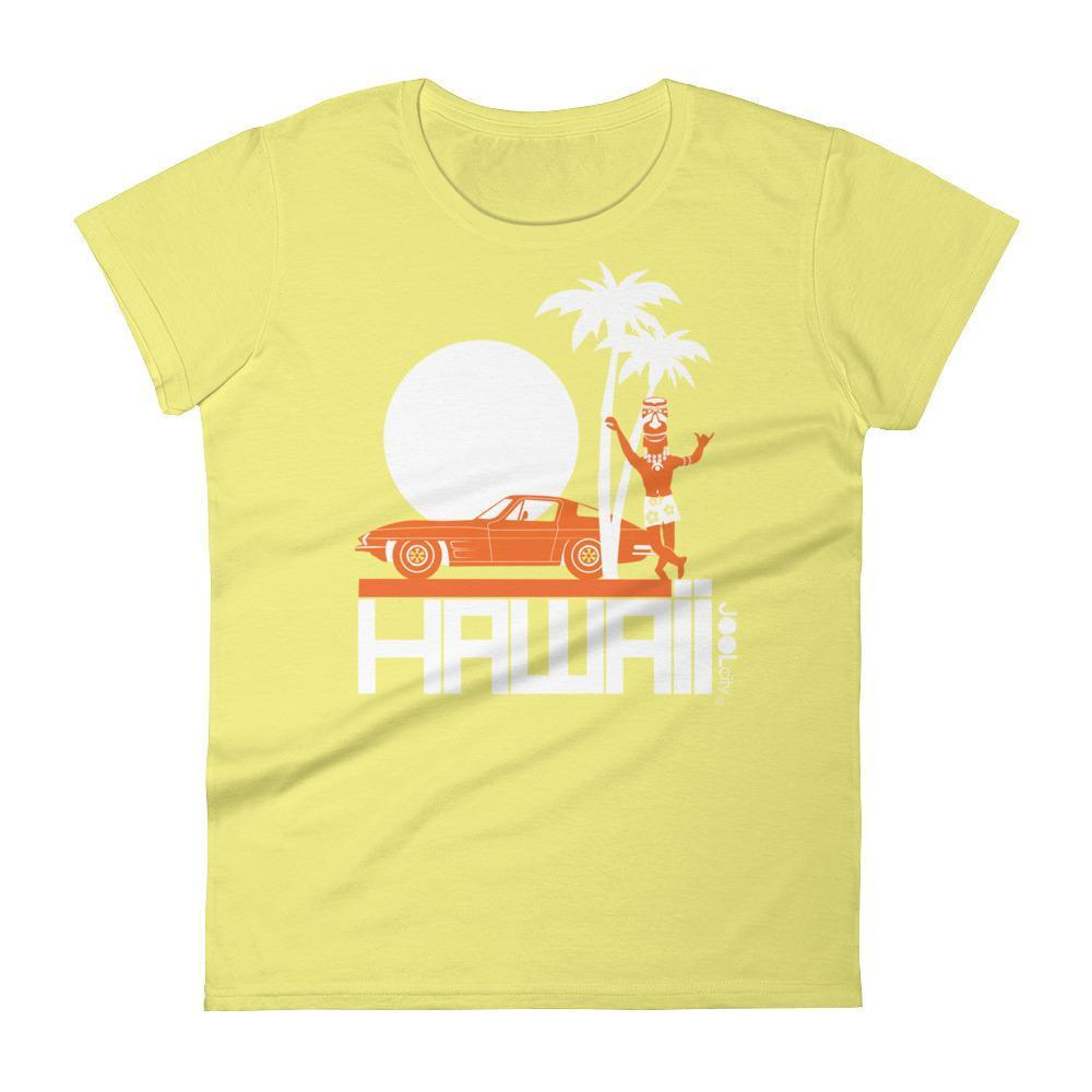 Hawaii  Tiki Guy Ride  Women's   Short Sleeve T-Shirt T-Shirt Spring Yellow / 2XL designed by JOOLcity
