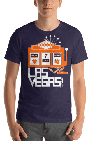Las Vegas Beat The Odds Short-Sleeve Men's  T-Shirt T-Shirt  designed by JOOLcity