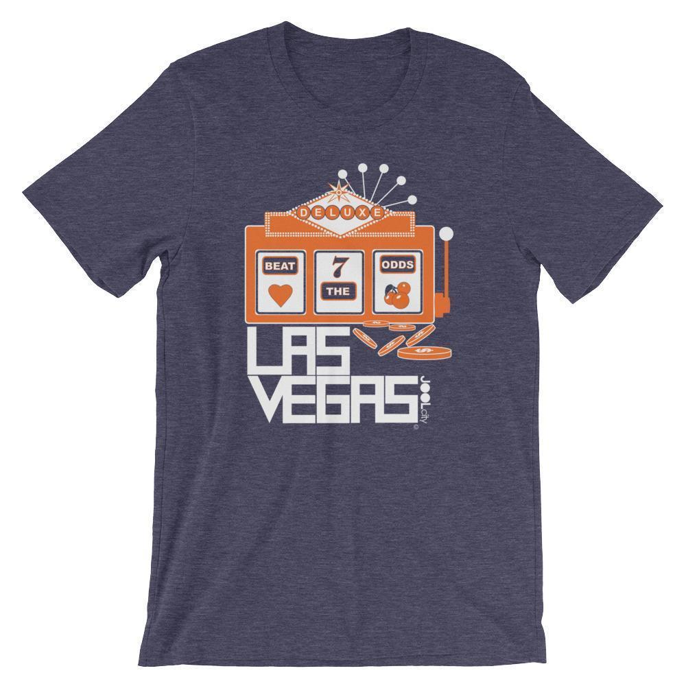 Las Vegas Beat The Odds Short-Sleeve Men's  T-Shirt T-Shirt Heather Midnight Navy / 2XL designed by JOOLcity