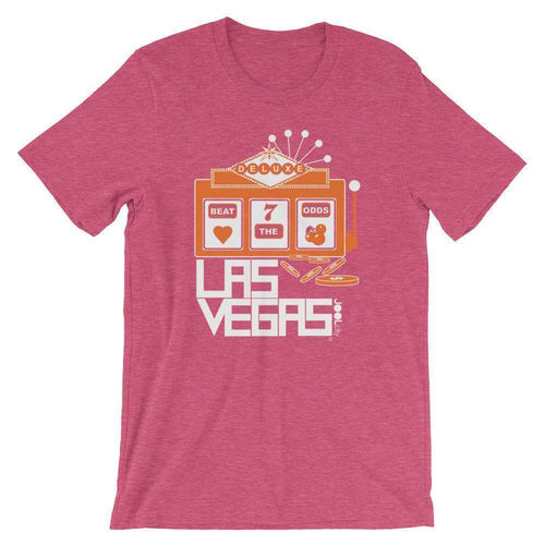 Las Vegas Beat The Odds Short-Sleeve Men's  T-Shirt T-Shirt Heather Raspberry / 2XL designed by JOOLcity