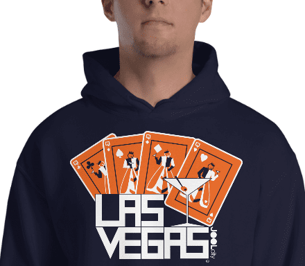 Las Vegas Card Shark Hooded Sweatshirt