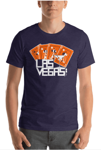 Las Vegas Card Shark Short-Sleeve Men's T-Shirt T-Shirt  designed by JOOLcity