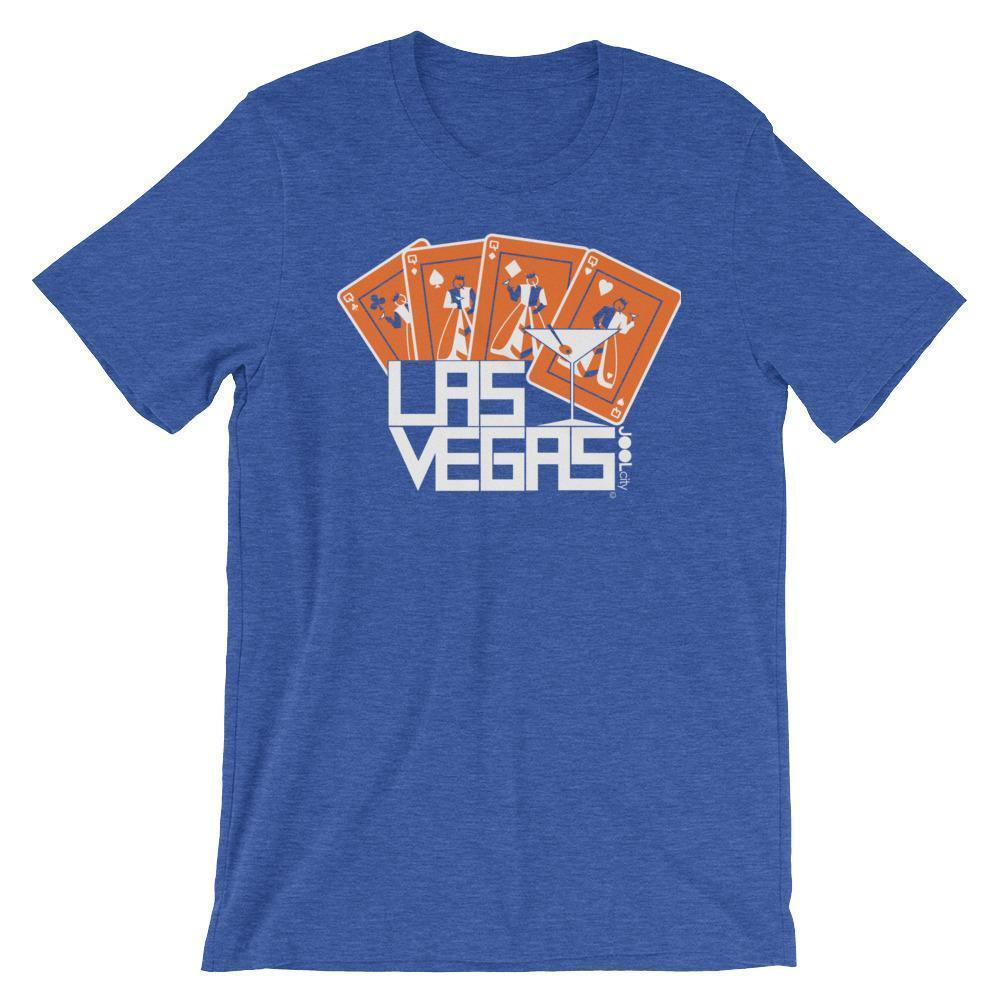 Las Vegas Card Shark Short-Sleeve Men's T-Shirt T-Shirt Heather True Royal / 2XL designed by JOOLcity