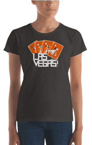 Las Vegas Card Shark Women's Short Sleeve T-shirt T-Shirt  designed by JOOLcity