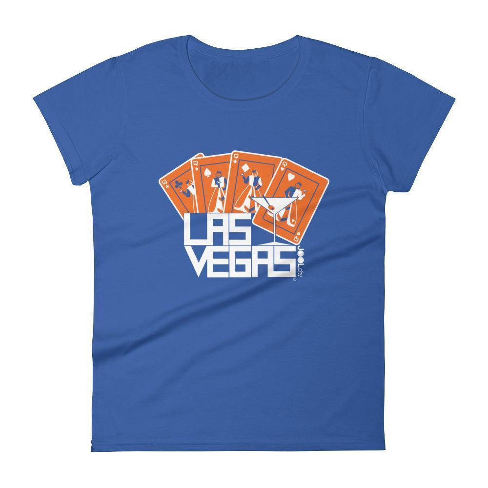 Las Vegas Card Shark Women's Short Sleeve T-shirt T-Shirt Royal Blue / 2XL designed by JOOLcity