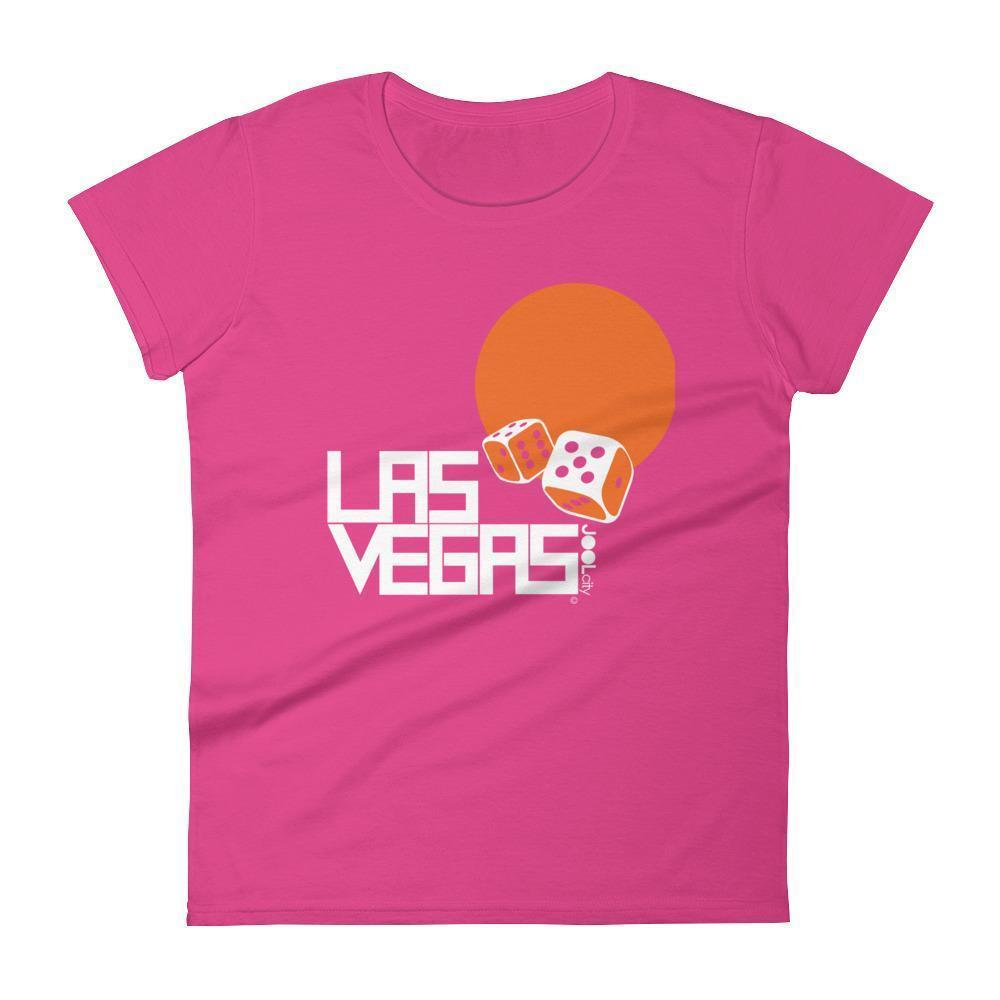 Las Vegas Dice Roll Women's Short Sleeve T-shirt T-Shirt Hot Pink / 2XL designed by JOOLcity