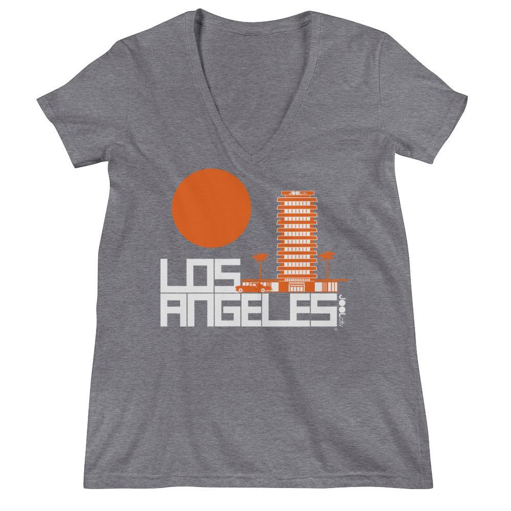 Los Angeles JOOLcity Tower Women's Fashion Deep V-neck Tee
