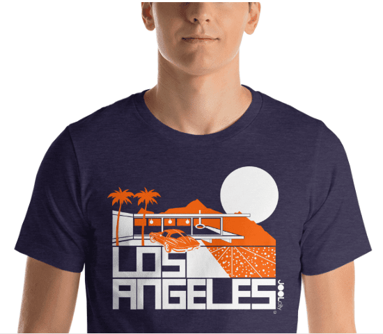 Los Angeles  Cliff House  Short-Sleeve Men's T-Shirt T-Shirt  designed by JOOLcity