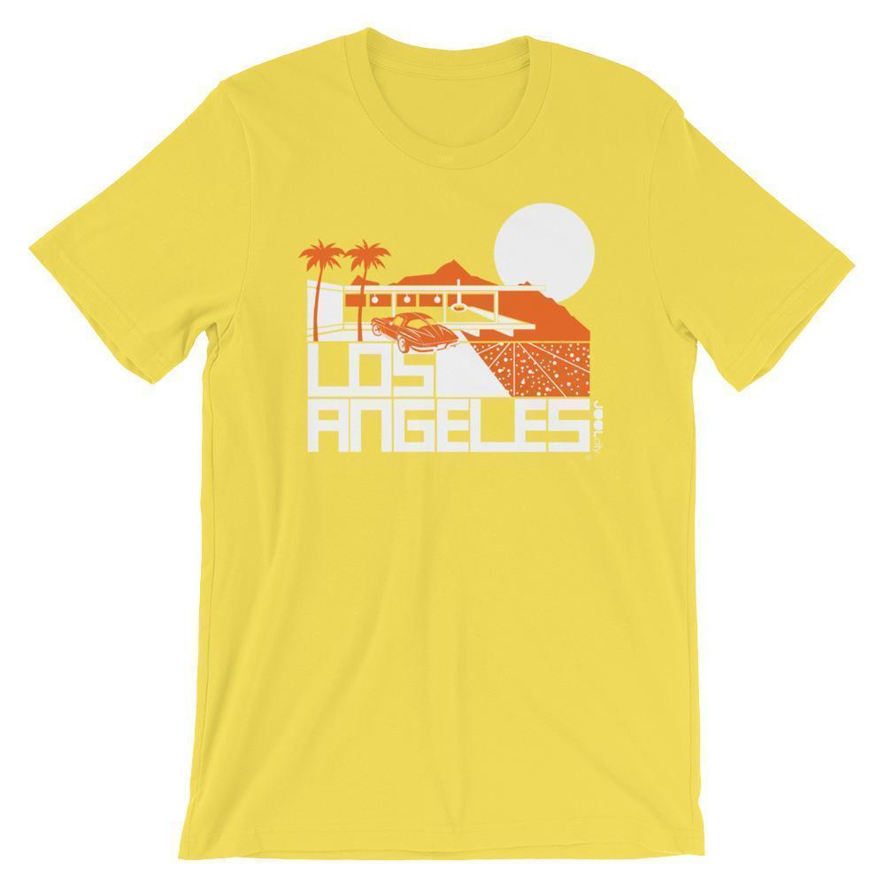 Los Angeles  Cliff House  Short-Sleeve Men's T-Shirt T-Shirt Yellow / 2XL designed by JOOLcity