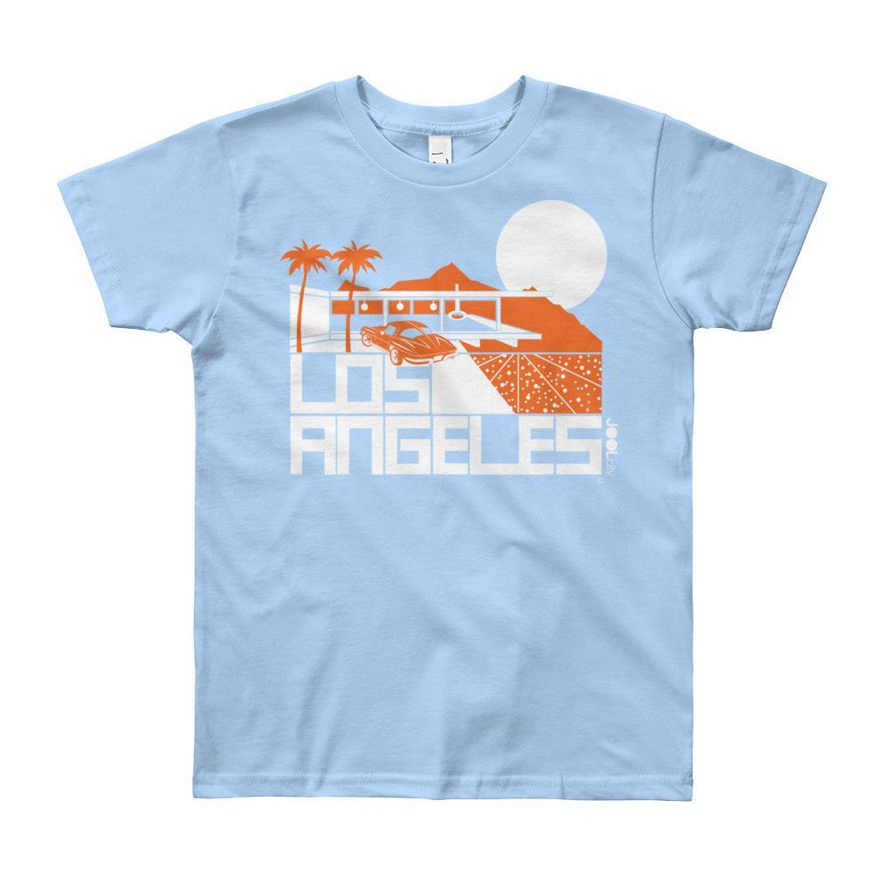 Los Angeles Cliff House Short Sleeve Youth T-shirt T-Shirt Baby Blue / 12yrs designed by JOOLcity