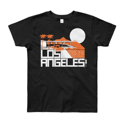 Los Angeles Cliff House Short Sleeve Youth T-shirt T-Shirt Black / 12yrs designed by JOOLcity