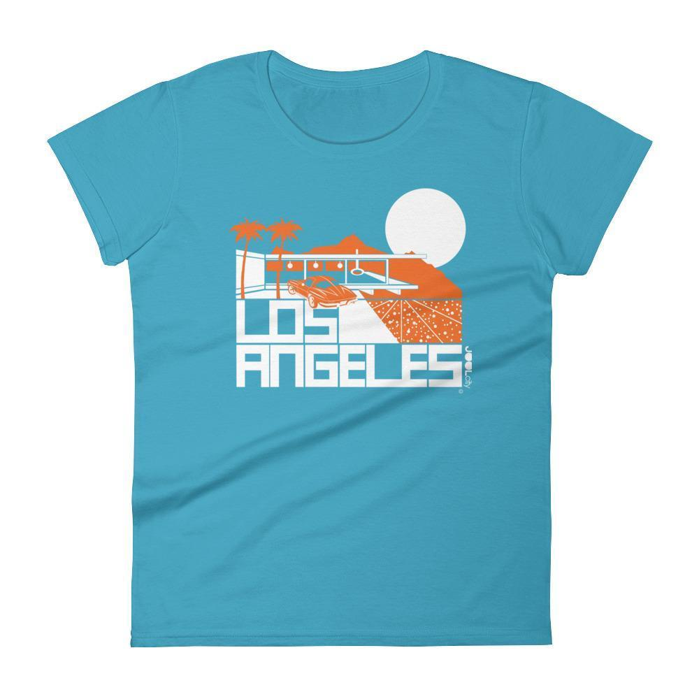 Los Angeles  Cliff House  Women's  Short Sleeve T-Shirt T-Shirt Caribbean Blue / 2XL designed by JOOLcity