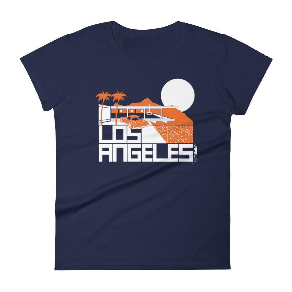 Los Angeles  Cliff House  Women's  Short Sleeve T-Shirt T-Shirt Navy / 2XL designed by JOOLcity