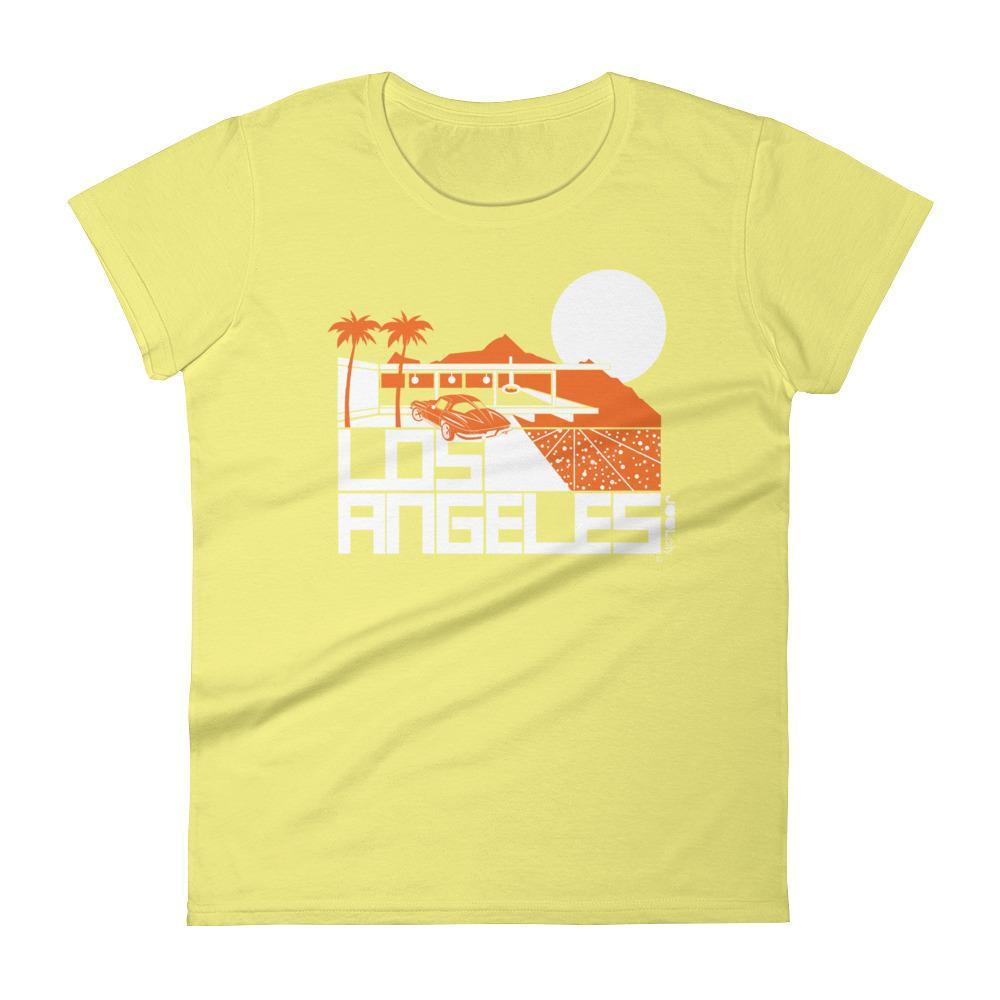 Los Angeles  Cliff House  Women's  Short Sleeve T-Shirt T-Shirt Spring Yellow / 2XL designed by JOOLcity